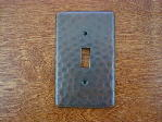 solid copper single gang outlet switchplate cover