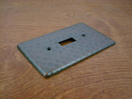 solid copper single gang outlet switchplate cover CH0120AC
