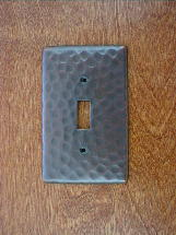 ch0120ac solid copper single gang outlet switchplate cover