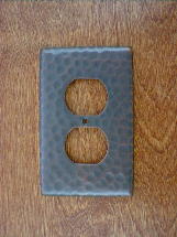 ch0122ac solid copper single gang gfi outlet switchplate cover