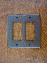 ch0124ac solid copper double gang gfi outlet switchplate cover