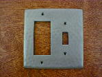 solid copper double gang gfi outlet switchplate cover