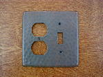 solid copper double gang outlet switchplate cover