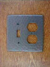ch0126ac solid copper double gang gfi outlet switchplate cover