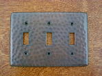 solid copper triple gang outlet switchplate cover
