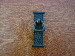 Antique bronze arts crafts droop bail pull CH-0275az