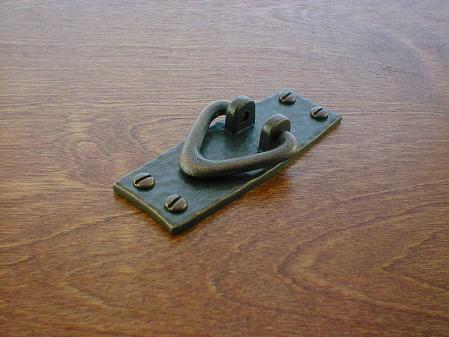 Craftsmans antique copper door stile slotted v bail pull for Craftsmen hardware