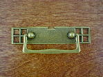 Antique brass bungalow backplate/drop handle CH-1503.09