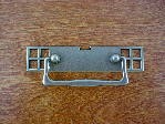 Old iron/pewter bungalow backplate/drop handle CH-1503.19