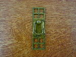 Old brass bungalow backplate/drop bail CH-1504.03