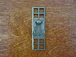 Old iron/pewter bungalow vertical drop handle CH-1504.19