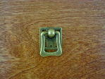 Antique brass bungalow backplate/bail pull CH-1506.09