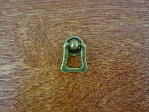 Antique brass bungalow backplate/bail pull CH-1507.09