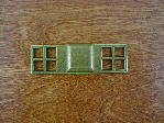 Antique brass bungalow backplate/square knob CH-1509.09