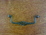 natural rust birdcage wire bail pull mid size