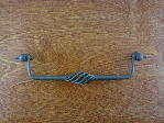 natural rust birdcage wire bail pull large