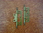 antique brass craftsmans steeple finial butt hinge